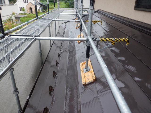洗浄後 トタン屋根