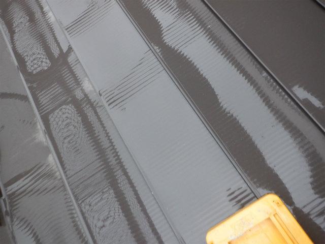 洗浄後 トタン屋根塗装 高圧洗浄