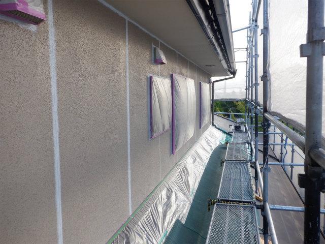 下塗り後 外壁塗装 リシン 3×10板