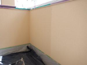 上塗り2回目 外壁塗装 宮城県石巻市