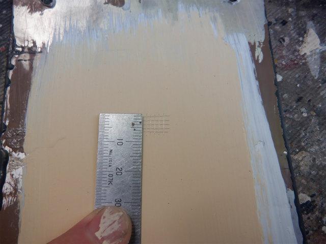 大日本塗料 マイティー万能水性シーラーとダイナミックTOP 付着確認
