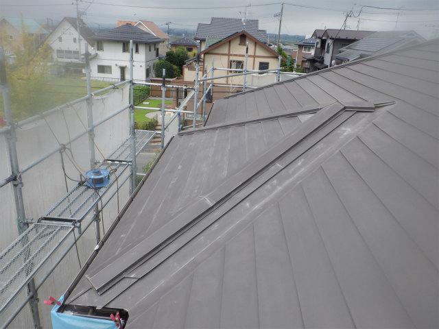 ケレン後 トタン屋根
