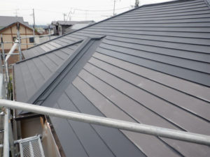 南面 トタン屋根塗装