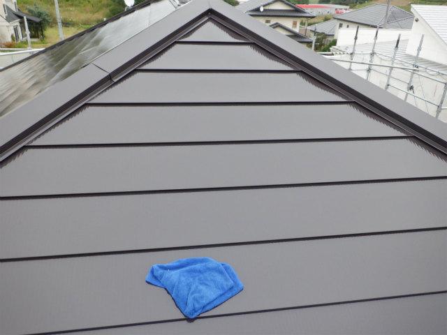 西面 トタン屋根塗装