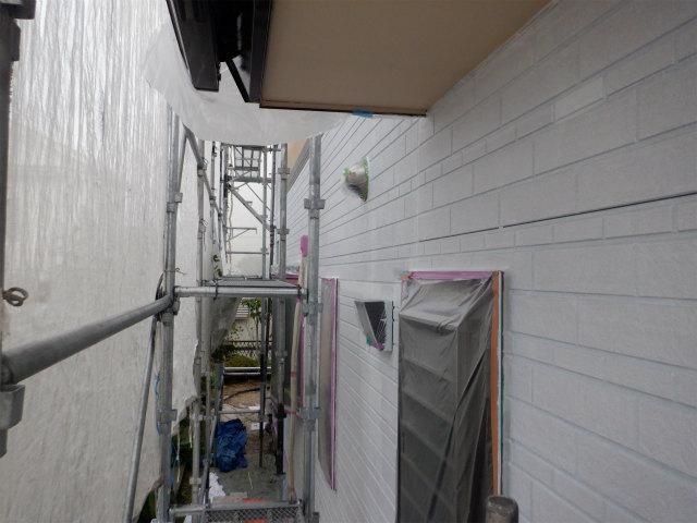 東面 下塗り完了