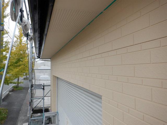 上塗り2回目 外壁塗装