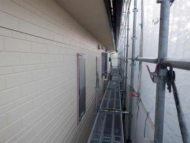 北面 外壁塗装 上塗り1回目