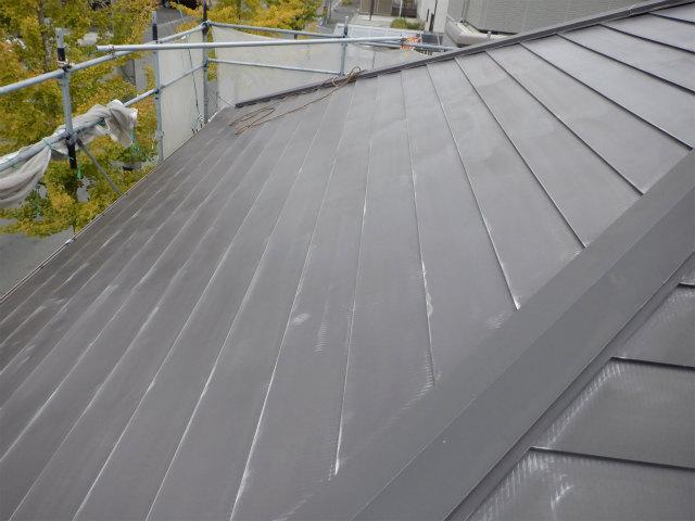 西面 完了 トタン屋根