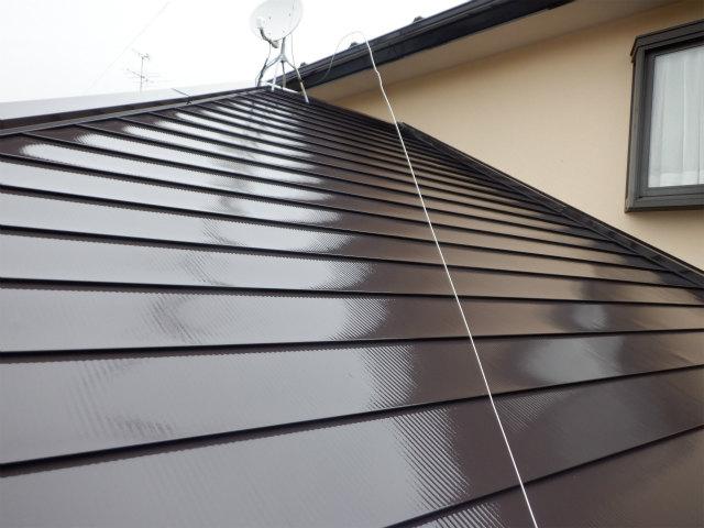 トタン屋根 上塗り2回目完了 宮城県石巻市仙台市