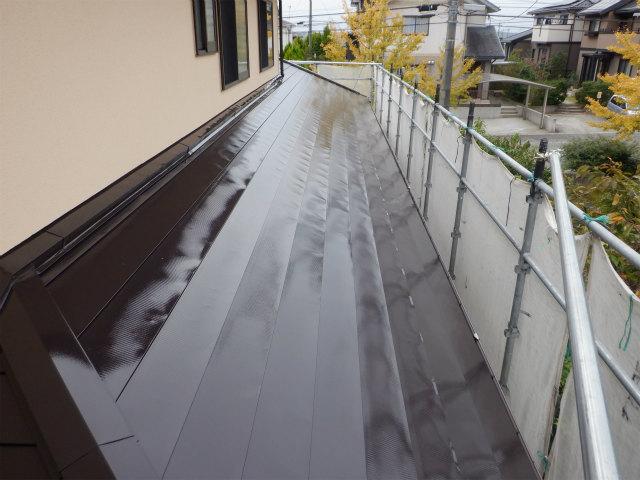 北面 トタン屋根塗装