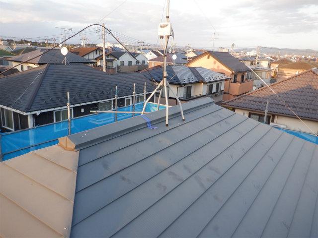 棟包み トタン屋根塗装