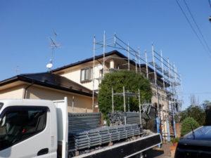足場解体 外壁塗装 屋根塗装
