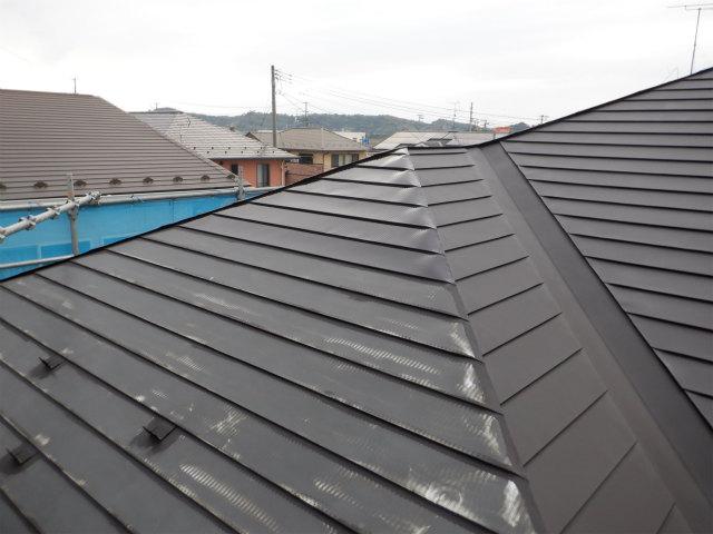 南面 トタン屋根塗装 錆止め