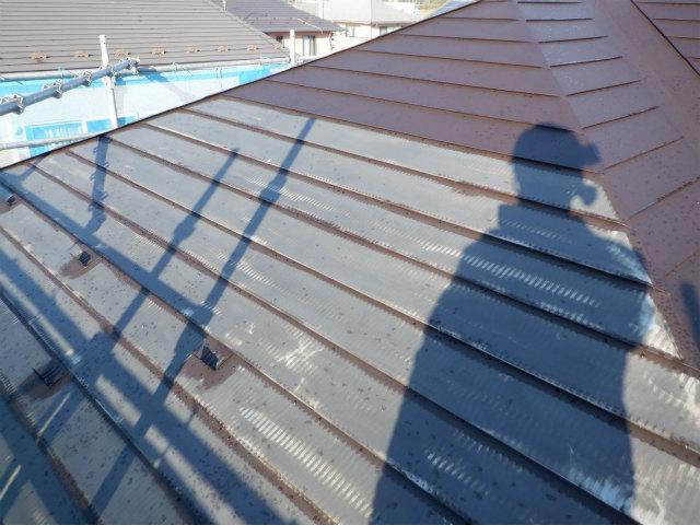 夜露 トタン屋根塗装