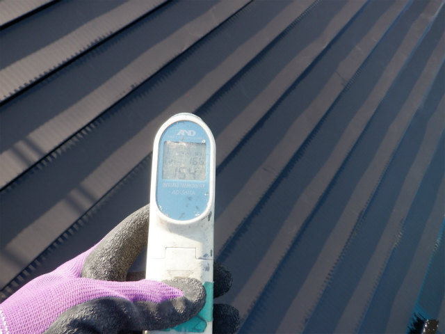 トタン屋根塗装 表面温度 北側