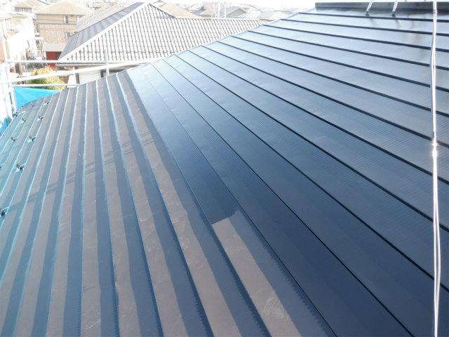 北面 トタン屋根塗装 上塗り1回目 宮城県 石巻市 東松島市 仙台