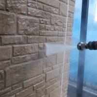 高圧洗浄中 外壁塗装 宮城県東松島市 石巻市 仙台市