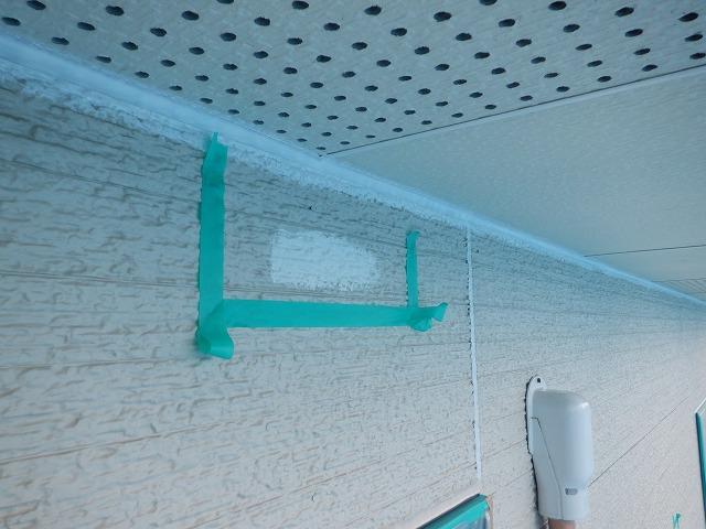 上塗り 外壁 付着性テスト
