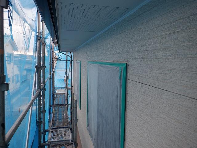 外壁塗装 東面 上塗り1回目
