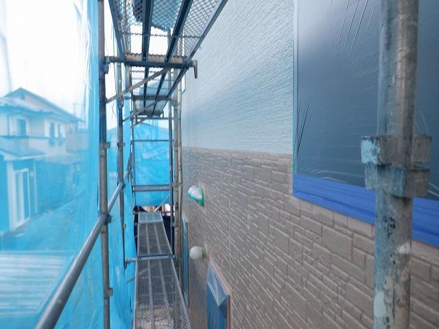 上塗り1回目 外壁塗装