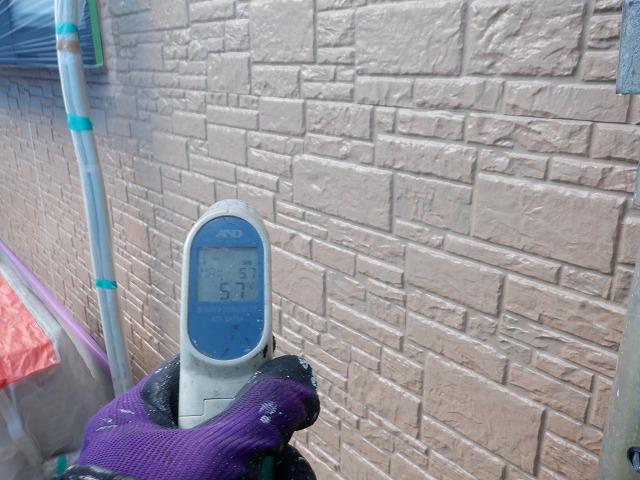 北面 外壁塗装 表面温度