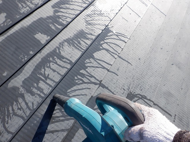 雨 トタン屋根