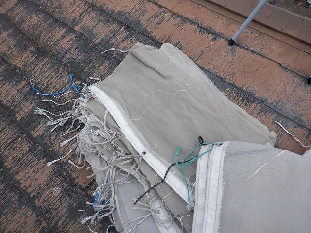 メッシュシート 外壁塗装 宮城県石巻市