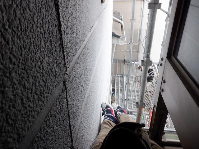 サンルームと外壁の間 狭い(^_^;)