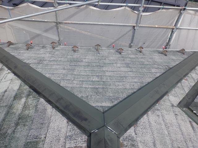 高圧洗浄後 屋根 カラーベスト 宮城県石巻市仙台市