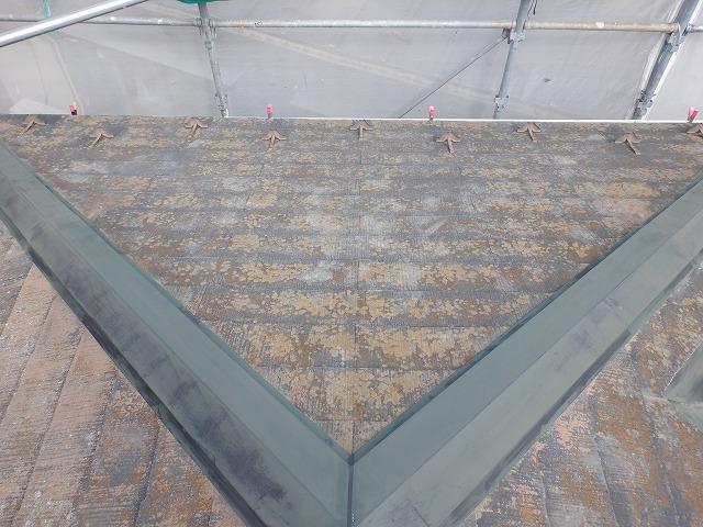 高圧洗浄前 屋根 カラーベスト 宮城県石巻市仙台市
