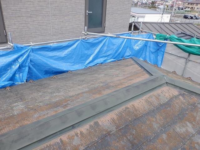 飛散対策 屋根洗浄