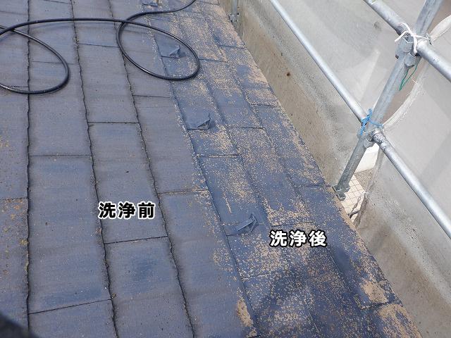 東側 屋根 洗浄