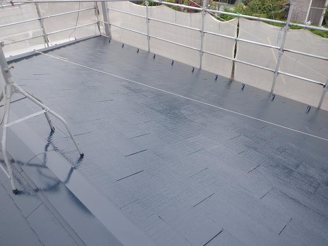 屋根塗装 上塗り2回目 宮城県仙台市