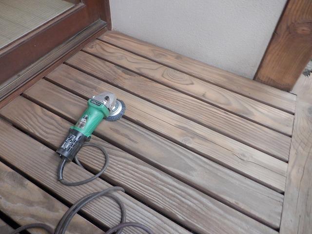 エヌグリット 床 木材 ケレン 下地処理