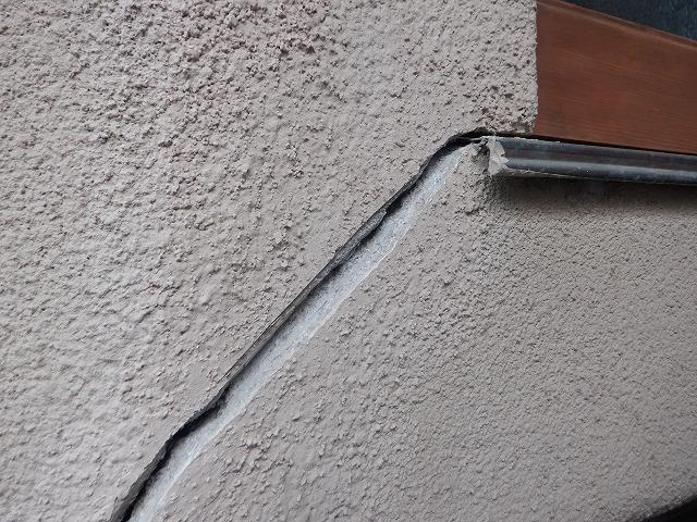ひび割れ 外壁 クラック 宮城県