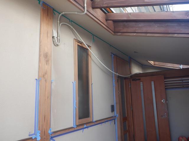 窓枠 柱 隙間 養生